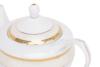 AGAWA GOLD Serwis herbaciany polska porcelana 15 elementów biały / złoty wzór dla 6 os. Gold - zdjęcie 10