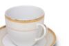 AGAWA GOLD Serwis herbaciany polska porcelana 15 elementów biały / złoty wzór dla 6 os. Gold - zdjęcie 13