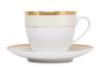 AGAWA GOLD Serwis herbaciany polska porcelana 15 elementów biały / złoty wzór dla 6 os. Gold - zdjęcie 12