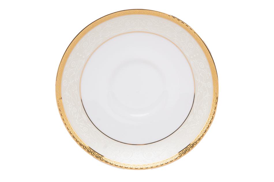 AGAWA GOLD Serwis herbaciany polska porcelana 15 elementów biały / złoty wzór dla 6 os. Gold - zdjęcie 15