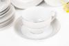 SCANIA Serwis herbaciany polska porcelana 15 elementów biały / platynowy wzór dla 6 os. Platin - zdjęcie 6