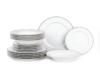 DIAMENT PLATIN Serwis obiadowy polska porcelana 6 os. Biały / platynowy wzór Platin - zdjęcie 1