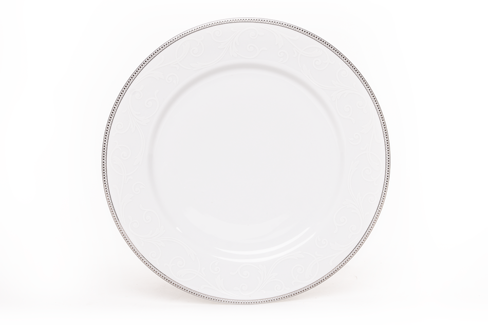 DIAMENT PLATIN Serwis obiadowy polska porcelana 6 os. Biały / platynowy wzór Platin - zdjęcie 4