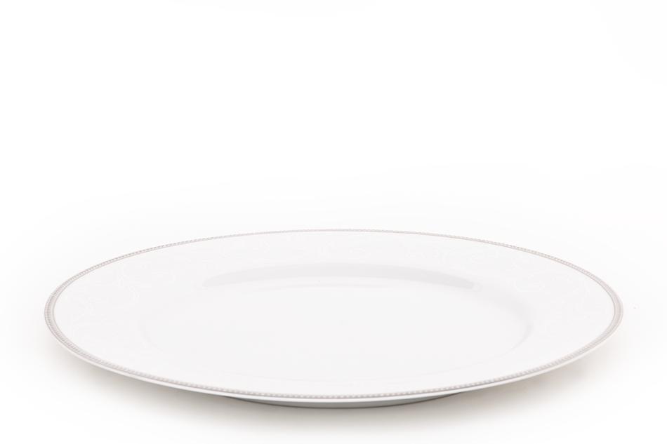 DIAMENT PLATIN Serwis obiadowy polska porcelana 6 os. Biały / platynowy wzór Platin - zdjęcie 3