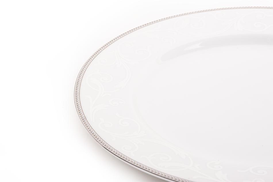DIAMENT PLATIN Serwis obiadowy polska porcelana 6 os. Biały / platynowy wzór Platin - zdjęcie 5