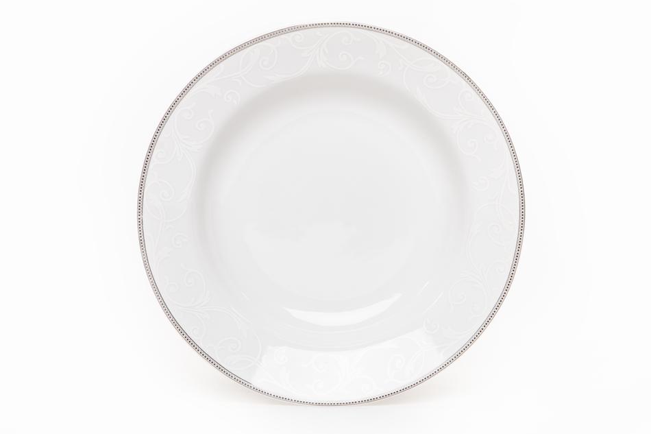 DIAMENT PLATIN Serwis obiadowy polska porcelana 6 os. Biały / platynowy wzór Platin - zdjęcie 6