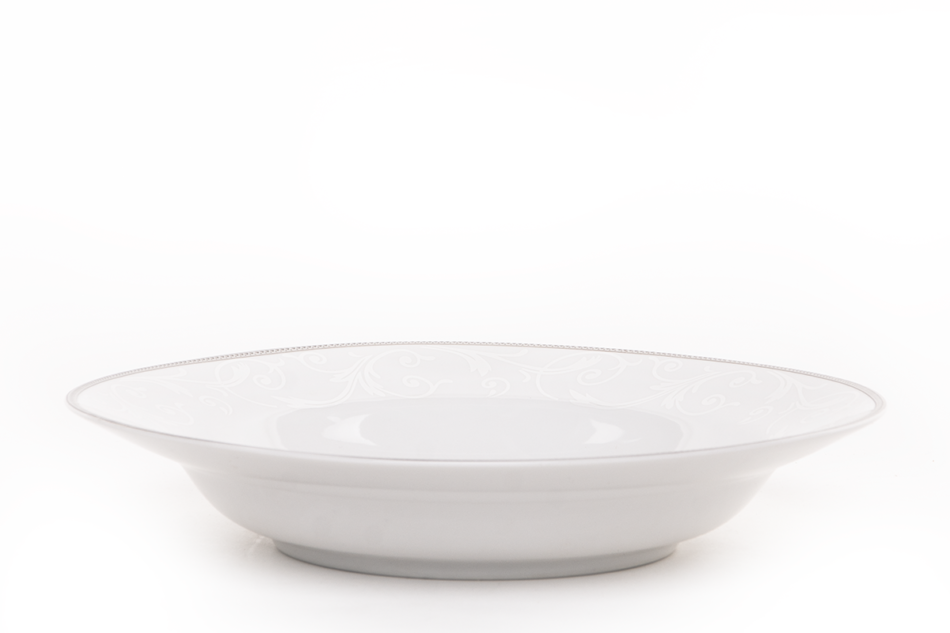 DIAMENT PLATIN Serwis obiadowy polska porcelana 6 os. Biały / platynowy wzór Platin - zdjęcie 7
