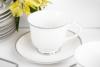 DIAMENT PLATIN Serwis herbaciany polska porcelana 6 os. 16 elementów Biały / platynowy wzór Platin - zdjęcie 5