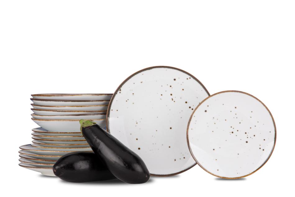 ALUMINA Serwis obiadowy polska porcelana Cottage White dla 6 os. Cottage white - zdjęcie 0