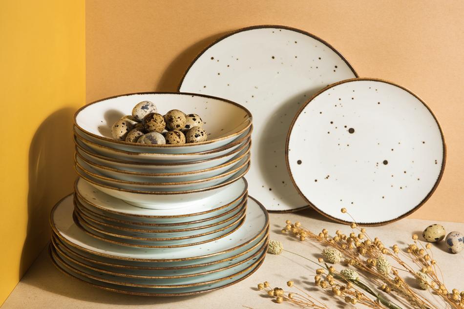 ALUMINA Serwis obiadowy polska porcelana Cottage White dla 6 os. Cottage white - zdjęcie 1