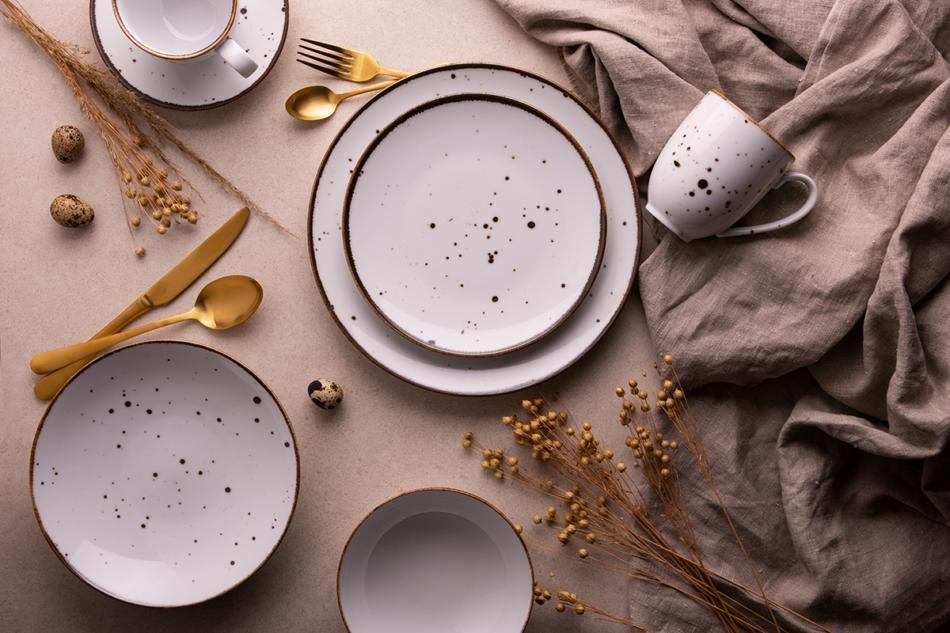 ALUMINA Serwis obiadowy polska porcelana Cottage White dla 6 os. Cottage white - zdjęcie 2