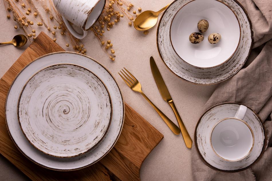 ALUMINA Serwis obiadowy polska porcelana Nostalgia White dla 6 os. Nostalgia White - zdjęcie 1