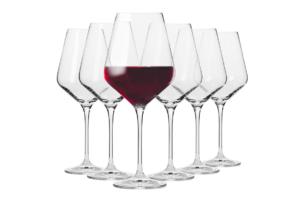 AVANT-GARDE, https://konsimo.pl/kolekcja/avant-garde/ Kieliszek do wina czerwonego (6 szt.) przezroczysty - zdjęcie