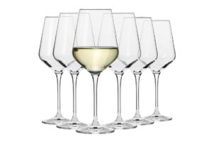 AVANT-GARDE, https://konsimo.pl/kolekcja/avant-garde/ Kieliszek do wina białego (6 szt.) przezroczysty - zdjęcie