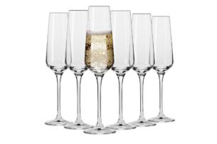 AVANT-GARDE, https://konsimo.pl/kolekcja/avant-garde/ Kieliszek do szampana (6 szt.) przezroczysty - zdjęcie