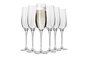 HARMONY, https://konsimo.pl/kolekcja/harmony/ Kieliszek do szampana (6 szt.) przezroczysty - zdjęcie