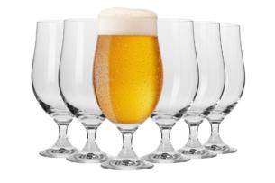 HARMONY, https://konsimo.pl/kolekcja/harmony/ Pokal do piwa (6 szt.) przezroczysty - zdjęcie