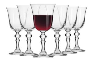 KRISTA, https://konsimo.pl/kolekcja/krista/ Kieliszek do wina czerwonego  (6 szt.) przezroczysty - zdjęcie