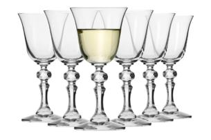 KRISTA, https://konsimo.pl/kolekcja/krista/ Kieliszek do wina białego (6 szt.) przezroczysty - zdjęcie