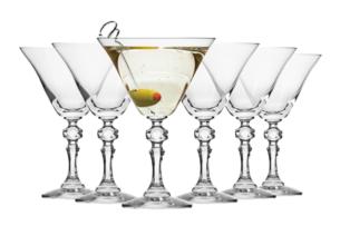 KRISTA, https://konsimo.pl/kolekcja/krista/ Kieliszek do martini (6 szt.) przezroczysty - zdjęcie