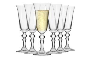 KRISTA, https://konsimo.pl/kolekcja/krista/ Kieliszek do szampana (6 szt.) przezroczysty - zdjęcie