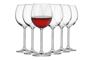 VENEZIA, https://konsimo.pl/kolekcja/venezia/ Kieliszek do wina czerwonego (6 szt.) przezroczysty - zdjęcie