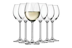 VENEZIA, https://konsimo.pl/kolekcja/venezia/ Kieliszek do wina białego (6 szt.) przezroczysty - zdjęcie