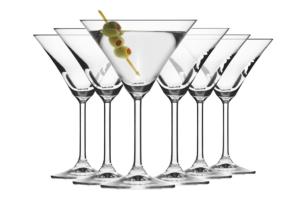 VENEZIA, https://konsimo.pl/kolekcja/venezia/ Kieliszek do martini (6 szt.) przezroczysty - zdjęcie