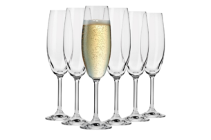 VENEZIA, https://konsimo.pl/kolekcja/venezia/ Kieliszek do szampana (6 szt.) przezroczysty - zdjęcie