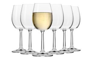 PURE, https://konsimo.pl/kolekcja/pure/ Kieliszek do wina białego  (6 szt.) przezroczysty - zdjęcie