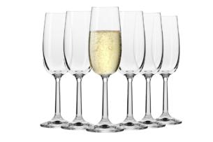 PURE, https://konsimo.pl/kolekcja/pure/ Kieliszek do szampana (6 szt.) przezroczysty - zdjęcie