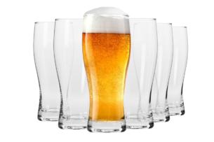 CHILL, https://konsimo.pl/kolekcja/chill/ Szklanka do piwa (6 szt.) przezroczysty - zdjęcie