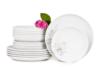 NORA MAGNOLIA Serwis obiadowy polska porcelana 6 os. Biały / wzór magnolii Magnolia - zdjęcie 3