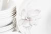 NORA MAGNOLIA Serwis obiadowy polska porcelana 6 os. Biały / wzór magnolii Magnolia - zdjęcie 8