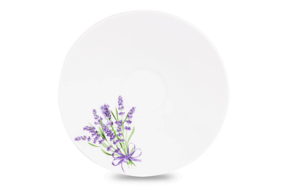 NORA LAWENDA Serwis obiadowy polska porcelana 6 os. Biały / wzór lawendy Lawenda - zdjęcie 4