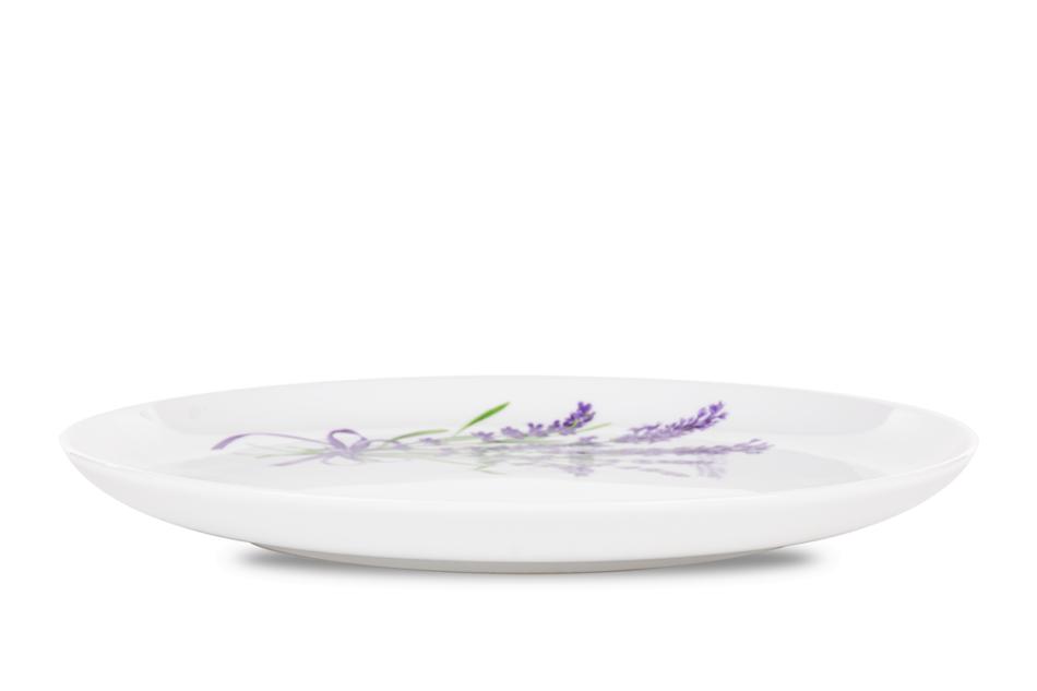 NORA LAWENDA Serwis obiadowy polska porcelana 6 os. Biały / wzór lawendy Lawenda - zdjęcie 3