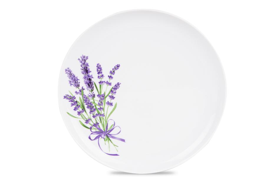 NORA LAWENDA Serwis obiadowy polska porcelana 6 os. Biały / wzór lawendy Lawenda - zdjęcie 6