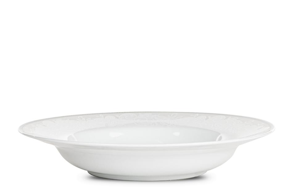 AMELIA LUIZA Zestaw obiadowy porcelana 25 elementów biały / srebrny wzór dla 6 os. Luiza - zdjęcie 11