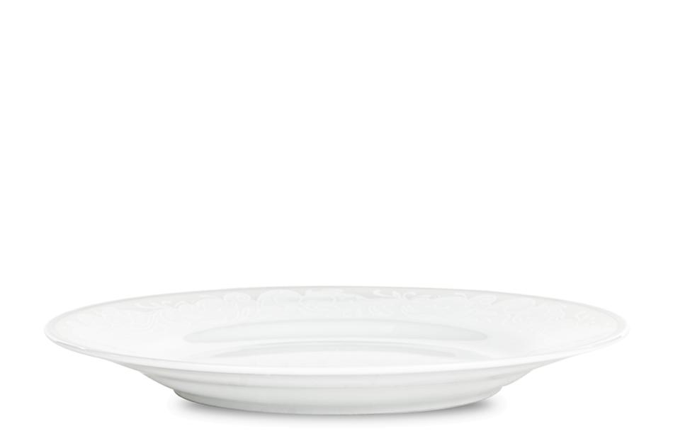 AMELIA LUIZA Zestaw obiadowy porcelana 25 elementów biały / srebrny wzór dla 6 os. Luiza - zdjęcie 10