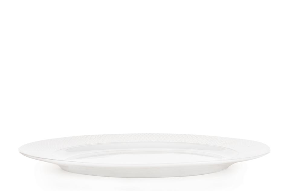 AMELIA SATYNA Zestaw obiadowy porcelana 25 elementów biały / srebrny wzór dla 6 os. Satyna - zdjęcie 14