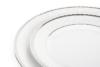 AMELIA PLATYNA Zestaw obiadowy porcelana 25 elementów biały / platynowy wzór dla 6 os. Platyna - zdjęcie 11