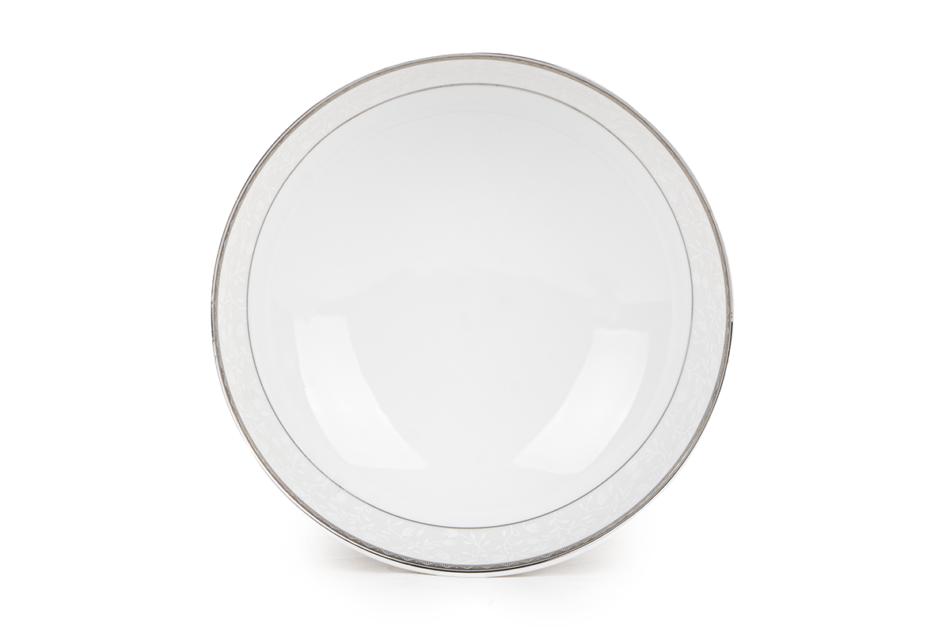 AMELIA PLATYNA Zestaw obiadowy porcelana 25 elementów biały / platynowy wzór dla 6 os. Platyna - zdjęcie 15
