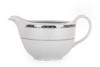 AMELIA PLATYNA Zestaw obiadowy porcelana 25 elementów biały / platynowy wzór dla 6 os. Platyna - zdjęcie 23