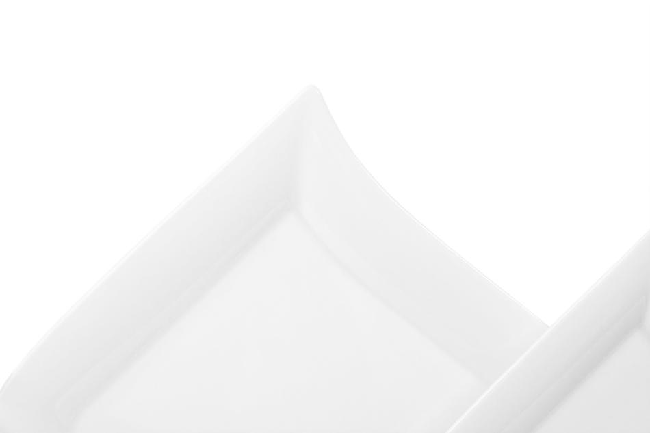 OPERA Serwis obiadowy porcelanowy polska marka biały 18 elementów na 6 osób biały biały - zdjęcie 3