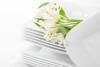 OPERA Serwis obiadowy porcelanowy polska marka biały 18 elementów na 6 osób biały biały - zdjęcie 5