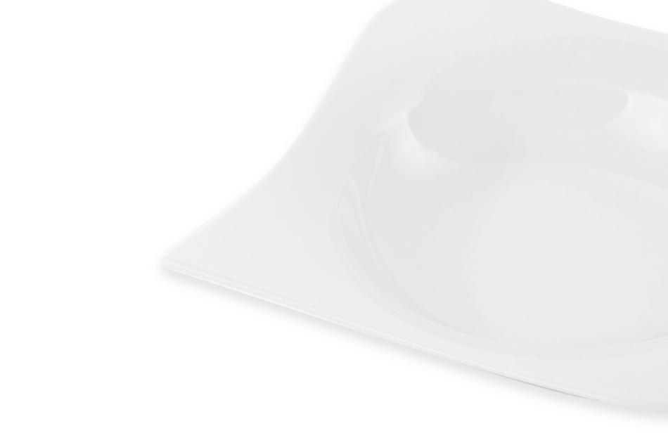 OPERA Serwis obiadowy porcelanowy polska marka biały 18 elementów na 6 osób biały biały - zdjęcie 8