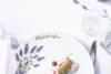 BOSS LAWENDA Zestaw obiadowy na 6 os. Biały / wzór lawendy Lawenda - zdjęcie 5