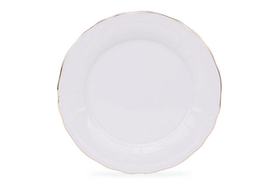MARIA ZŁOTY PASEK Zestaw obiadowy chodzież porcelana 6 os. Biały / złoty Złoty Pasek - zdjęcie 4