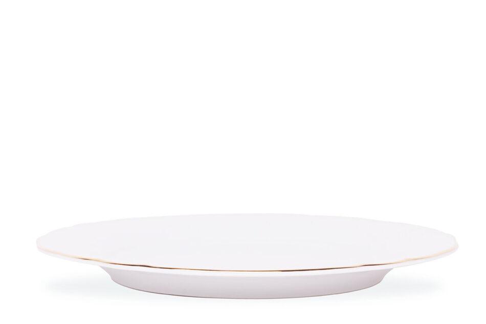 MARIA ZŁOTY PASEK Zestaw obiadowy chodzież porcelana 6 os. Biały / złoty Złoty Pasek - zdjęcie 3