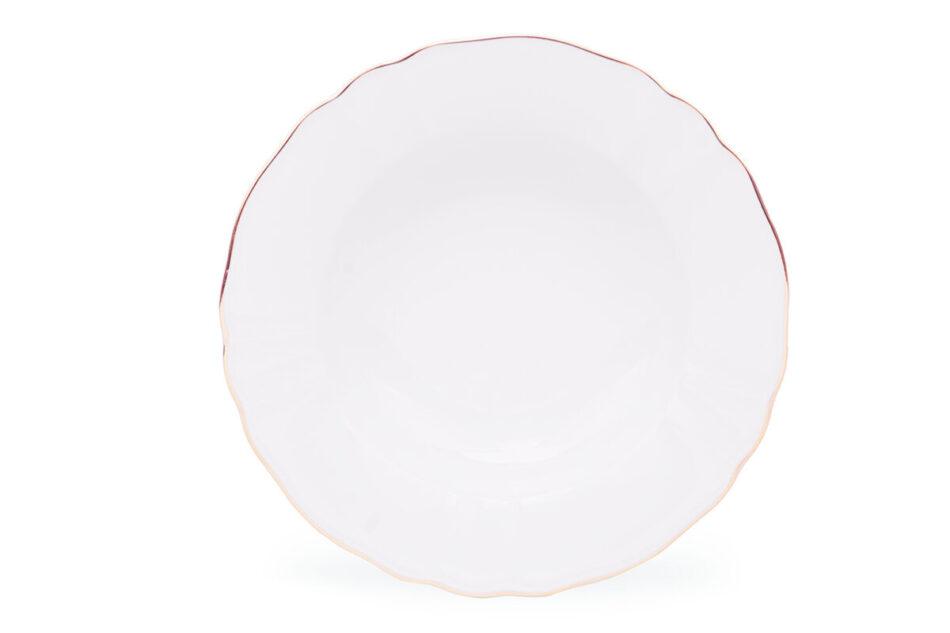 MARIA ZŁOTY PASEK Zestaw obiadowy chodzież porcelana 6 os. Biały / złoty Złoty Pasek - zdjęcie 2